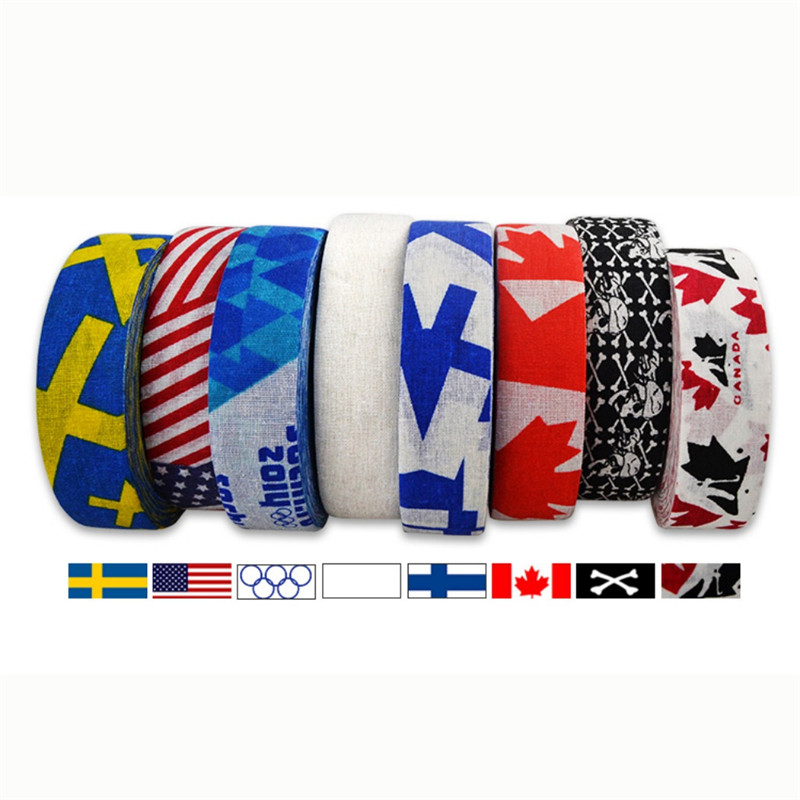 1Pc 2.5 Cm X 25 Cm Hockey Tape Sport Safety Football Volleyball Basketball Knee Pads Anti-slip Hockey Stick Tape