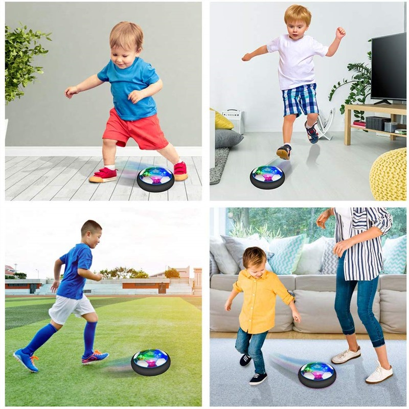 Air Power Football Toys Hover Soccer Toy Play Indoor/Outdoor Games Internal Electric Universal USB Charging Suspension Football