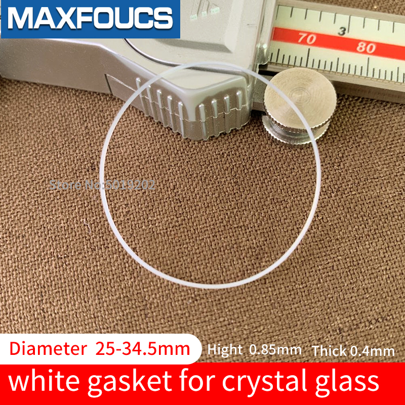 Plastic White Gasket For Crystal Glass Internal Diameter 25-34.5mm Thickness 0.4 Hight 0.85mm Watch Parts Watch Accessories,1pcs