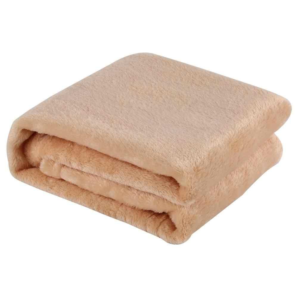 Macio e quente coral veludo cobertor inverno lençóis colcha sofá xadrez tecido luz mecânica de lavagem flanela cobertor quente