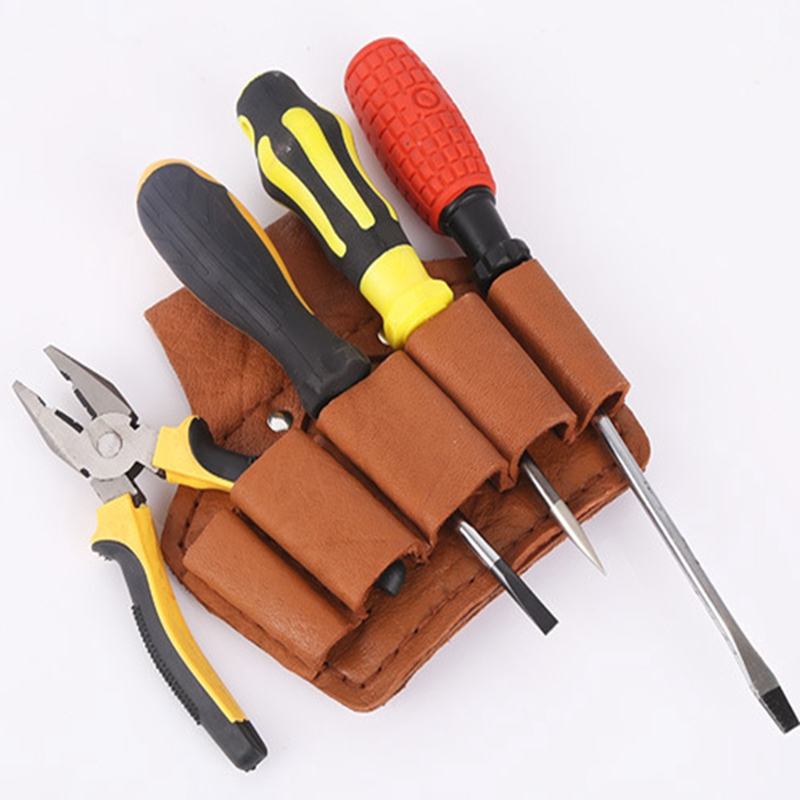 Urijk  PU Leather Tool Bag Portable Electrician Woodworking Multi-pocket Storage Instrument Case Hand Waist Bags Waterproof