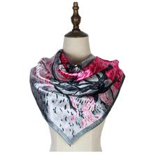 Women silk scarf shawl satin square stole shawls head wraps muffler mujer femme invierno