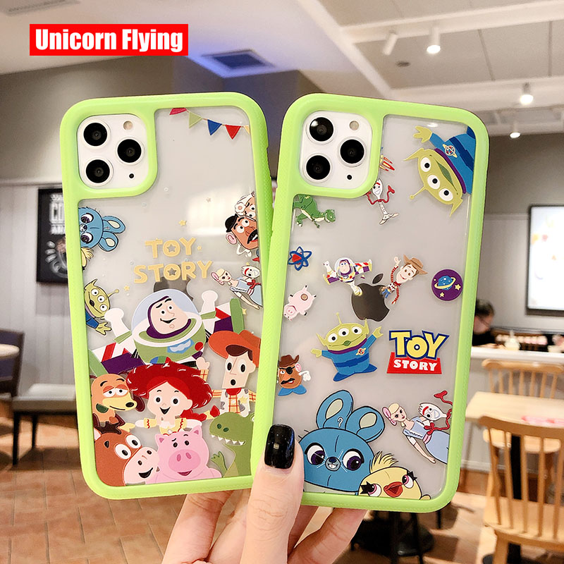 LinXiang 3 In 1 Detachable Back Cover <font><b>Toy</b></font> <font><b>Story</b></font> Buzz Lightyear Woody Phone Case For <font><b>iphone</b></font> 6 <font><b>6s</b></font> 7 8 Plus X XS Max XR 11 Pro image