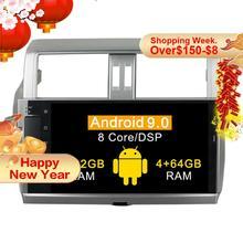 4+64G Octa Core Android 9.0 Car radio gps Navi for Toyota Prado 150 LC150 GPS 2014 2015 2016 2017 gps Navigation BT WIFI no dvd
