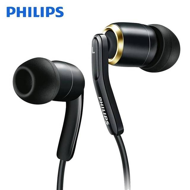 Original philips SHE9730 high fidelity earphone l shaped curved plug sports earphones for mobile phones and computers.