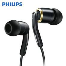 Original philips she9730 alta fidelidade fone de ouvido em forma de l curvo plug esportes fones de ouvido para telefones celulares e computadores.