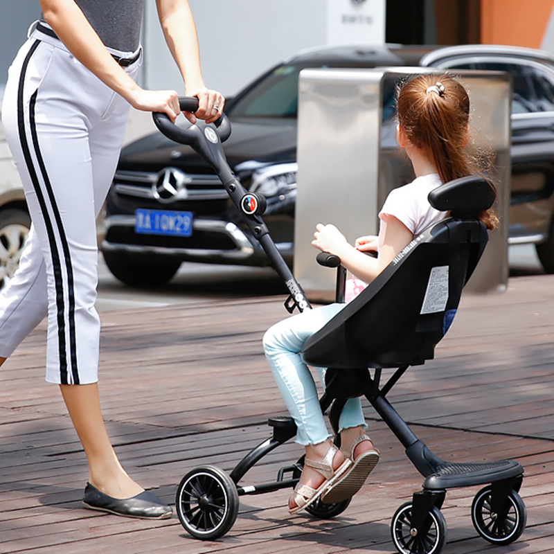 Children's Bi-directional Baby Trolley In Summer Super Light Foldable High Landscape Car