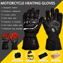 Heated gloves with battery for winter