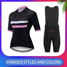 2020 neue Pro Team Radfahren Jersey Ropa Ciclismo Mujer Radfahren Bib Set MTB Bike Kleidung Weibliche Fahrrad Kleidung Rennrad jersey