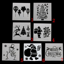 Christmas DIY Hollow Layering Stencils Craft Painting Scrapbooking Stamp Album Decor Embossing Paper Card Template merry christmas trees sticker painting stencils for diy scrapbooking stamps home decor paper card template decoration album