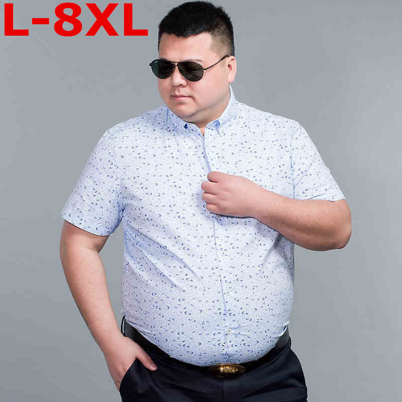 New Plus Size  8XL 7XL  6XL 5XL  Fashion Mens Short Sleeve Hawaiian Shirt Summer Casual Floral Shirts For Men Big Size 9XL