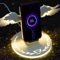 Angel Wings Fast Charger 10W Wireless Charging for iPhone X XR 8 Samsung Note 10 Huawei P30 Pro Honor Phone Holder for Xiaomi