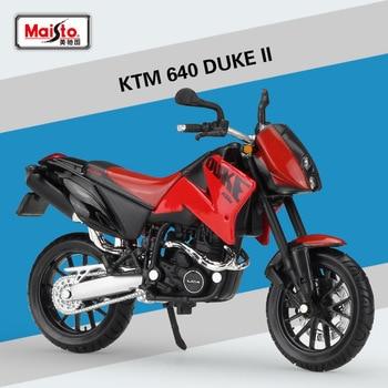 1/18 KTM 640 DUKE II Mini para motocicleta de aleación modelo Diecast simulación estática motocicletas en miniatura colección escultura de Metal Juguetes