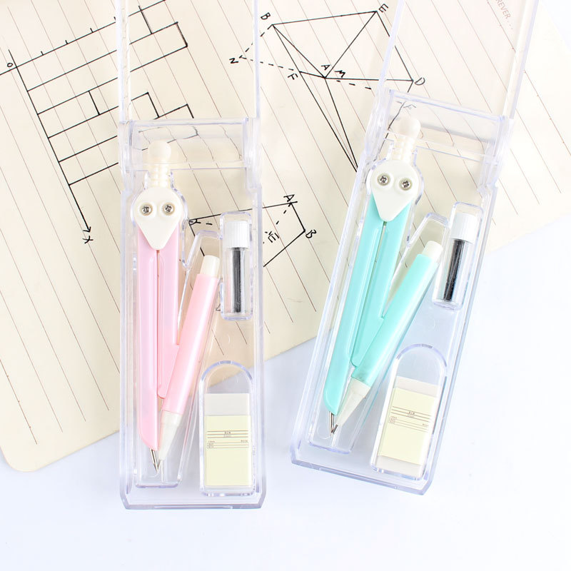 IELTS Tao Tu Compasses 3 Pieces Students Examination Exclusive Feature Compasses Ruler Pen Cartridge Set Mapping Tool