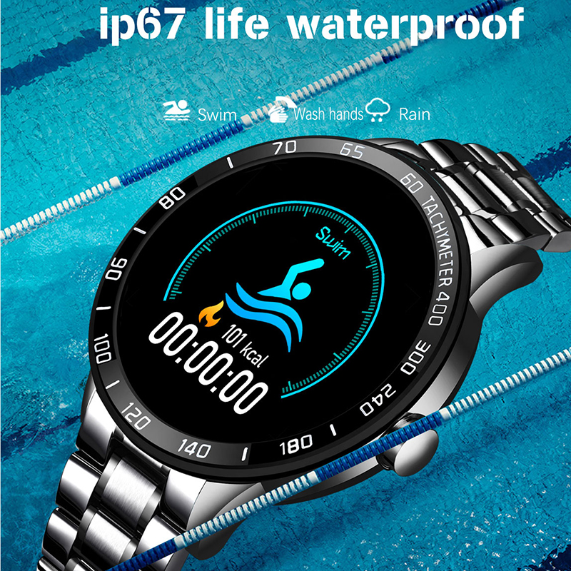 LIGE 2020 New Smart Watch Men LED Screen Heart Rate Monitor Blood Pressure Fitness tracker Sport Watch waterproof Smartwatch+Box 2
