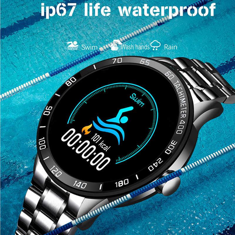 Lige 2020 新規スマート腕時計男性 led スクリーン心拍数モニター血圧フィットネストラッカースポーツ腕時計防水スマートウォッチ + ボックス