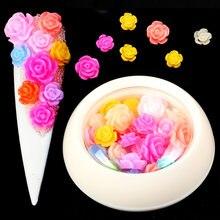 Красочные 3d смешанные розы Стразы для ногтей самодельные драгоценные