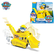 Original Box Paw Patrol Super Pup Rubble's Crane Rescue Vehicle Toy Set Anime Action Figure Model Cars Spin Master Toy Kids Gift цена 2017