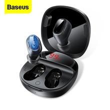 Baseus WM01 Plus TWS bezprzewodowe słuchawki Stereo prawdziwe bezprzewodowe słuchawki Bluetooth 5.0 słuchawki douszne dla iPhone Xiaomi Huawei