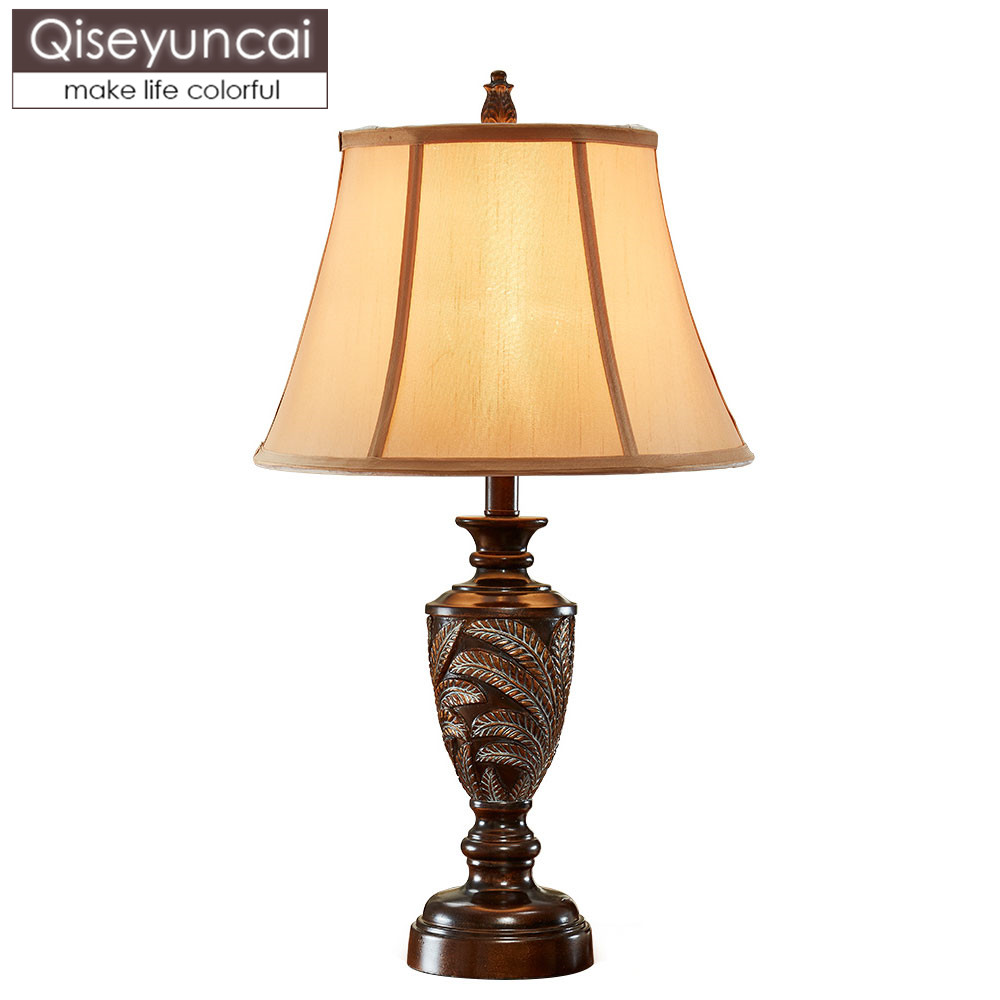 European style living room table lamp American retro luxury creative personality sofa side several large bedroom decoration beds|LED Table Lamps|Lights & Lighting - title=