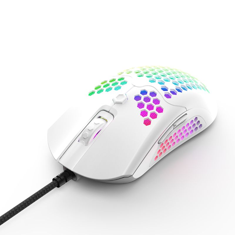 M5 Hollow-out Honeycomb Shell Gaming Mouse Colorful RGB Backlit Light Wired Mice