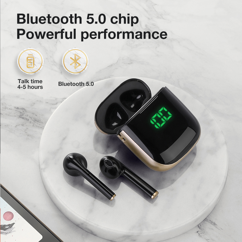 SANLEPUS TWS Bluetooth 5.0 Earphones Wireless Headphones With Wirless Charging, Led Earbuds Headset For Android IPhone Xiaomi