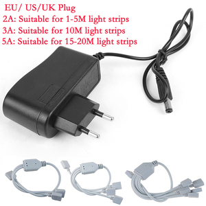 DC 12V 2A 3A 5A Universal Power Adapter Supply Charger Adapter EU US UK For LED Light Strips