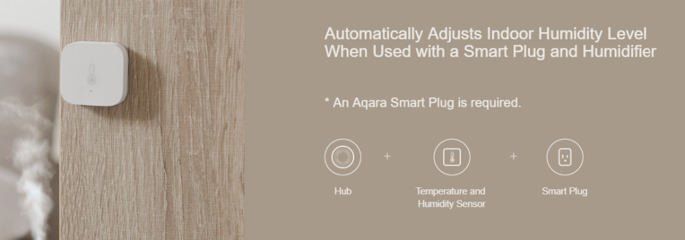 Aqara Temperature Humidity Air Pressure Sensor Connect to Aqara M2 gateway Work in Zigbee protocol linkage For Mijia Smart home