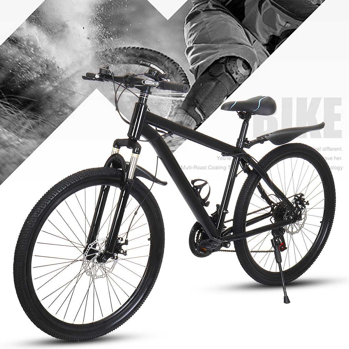 Горный велосипед, 21 скорость, передний и задний тормоз, колеса 26 дюймов, двойные дисковые тормоза для поездок на открытом воздухе, для взросл...