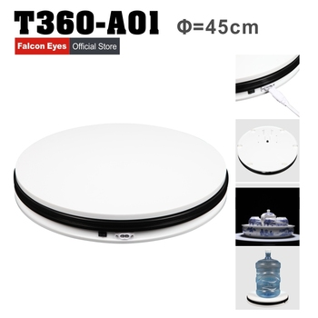 """Falcon Eye 14"""" 45cm 360 Degree Electric Rotating Turntable Photography Turntable Max Load 40kg with Led Light T360-A01"""