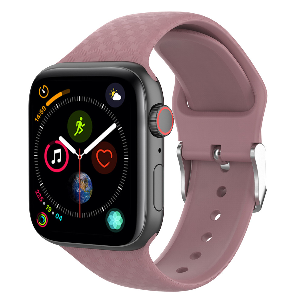 New 3D Texture Silicond Band For Apple Watch 5 42mm 38mm 44mm 40mm  Sport Soft Watchbands Straps Iwatch Series 1/2/3/4 Wristband