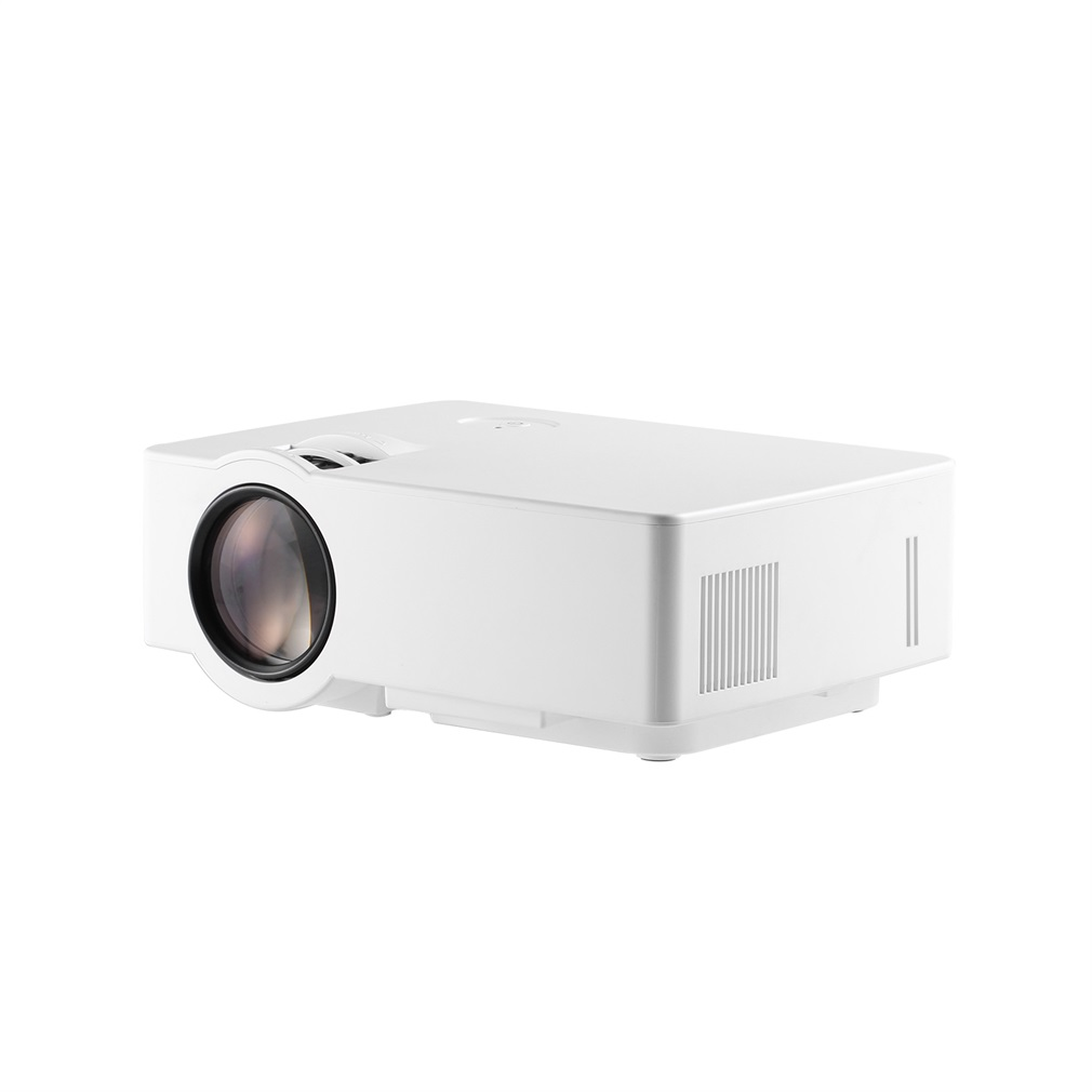 LCD Mini Projector 1500 LM 1080P Full HD 800 * 480 Video Home Cinema IR Remote Control Wired The Same Screen Japanese white thumbnail