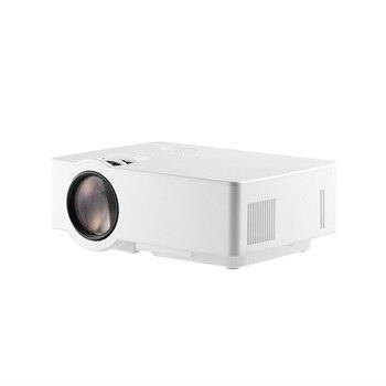 Mini proyector LCD 1500 LM 1080P Full HD 800*480 Video Home Cinema IR Control remoto con cable la misma pantalla japonés blanco