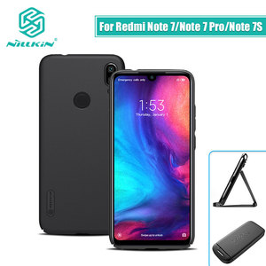 Image 2 - Redmi note 7 case 6.3 NILLKIN Frosted PC Matte hard back cover Gift Phone Holder For xiaomi redmi note 7 pro case Redmi note 7s