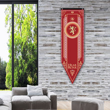 17 StylesGame of Thrones Tapestry Polyester Bar Decoration Movie Banner Thrones Family Background Painting Artwork Hanging Cloth(China)