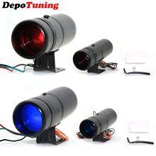 DepoTuning красный и синий светодиодный регулируемый тахометр об/мин тахометр Pro Shift Light 1000-11000 Универсальный