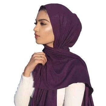 Trendy Women Muslim Summer Thin Hijab Scarf Foulard Femme Size Plus Hijabs Islamic Shawls Soild