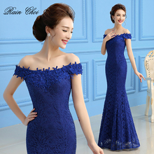 Evening Gown Sleeveless Long Formal Prom Lace Mermaid Dresses