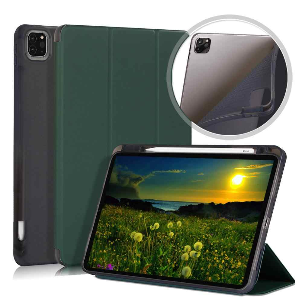IPad Pro için 11 2020 iPad Pro 12.9 için 12 9 2020 ile manyetik kalem tutucu için akıllı kapak iPad Pro 2020 kılıf