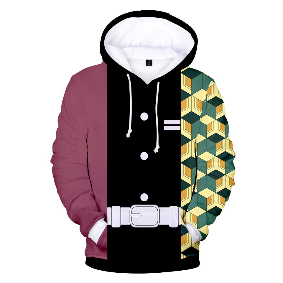 3D Harajuku Demon Slayer Kimetsu No Yaiba Hooded Sweatshirt Cospaly Fashion 2020 Trend Style Men/Women/Kid Hoodies Tops