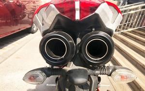 Image 5 - Silenciador de escape para motocicleta, sistema completo de enlace medio, 848, para Ducati 848, EVO 1098, 1198 S/R 848