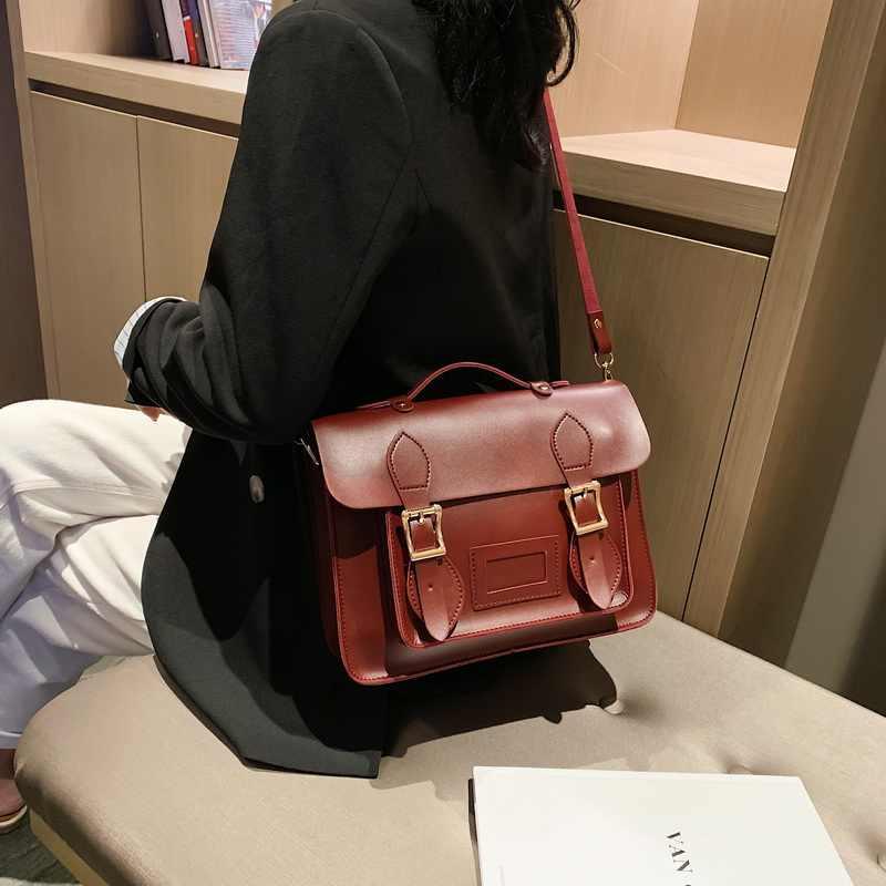 Mode cuir PU femmes Sac de messager Sac à main Vintage femme sacs à bandoulière rétro fille étudiant sacoche Sac à bandoulière Sac XA597H