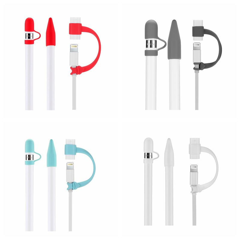 Teyomi 3 In 1 For Apple Pencil Cap Holder Anti-lost Cap Holder Nib Cover Dust-proof Lightweight Silicone For IPad Apple Pencil