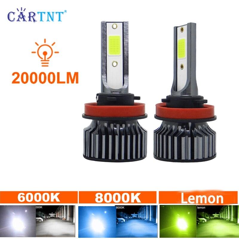 2 шт. H1 H3 H4 H7 светодиодные лампы H8 H11 HB3 9005 HB4 9006 светодиодный головной светильник s лампы 150W 20000LM 8000 к автомобильный Светильник лампы автомобиля...