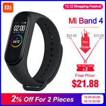 Dalam Saham Asli Xiao Mi Mi Band 4 Smart Mi Band 4 Warna Layar Gelang Denyut Jantung Kebugaran Tracker Bluetooth5.0 tahan Air Band4(China)