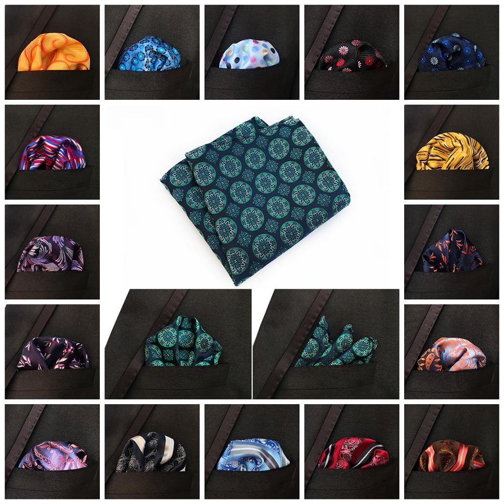 Men's Classic Polka Dot Paisley Striped Silk Handkerchief Pocket Square Fashion Men Hanky For Wedding Party Chest Towel 25*25CM