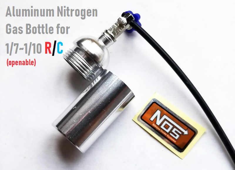 1 adet Metal simüle NOS azot şişesi 1/10 TRX4 Defender Bronco RC4WD D90 D110 eksenel Scx10 90046 RC paletli araba parçaları