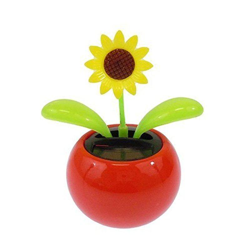 Solar Toy Mini Dancing Flower Sunflower Ornaments Dancing Flower Mini Sunflower Kids Toys Home Or Car Decoration