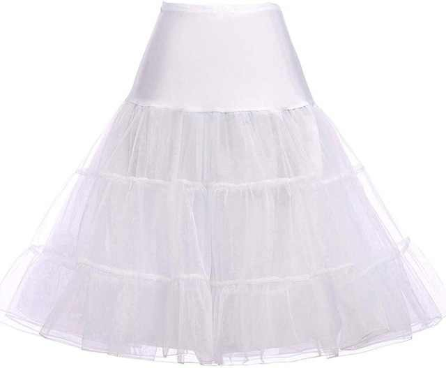 "50s Swing Vintage Tutu 26"" Retro Underskirt Petticoat Fancy Net 15 Colors Rockabilly"