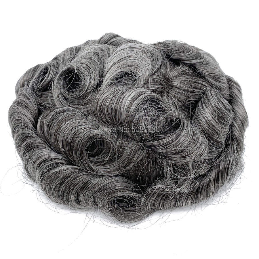 Men Hair Toupee Wigs Men Good Quality Lace Toupee Men Hair Piece Stock